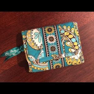 Vera Bradley Peacock Trifold Quilted Euro Wallet
